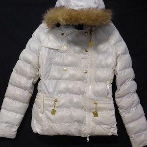 APPLE BOTTOMS hooded jacket with fur trim hoodie